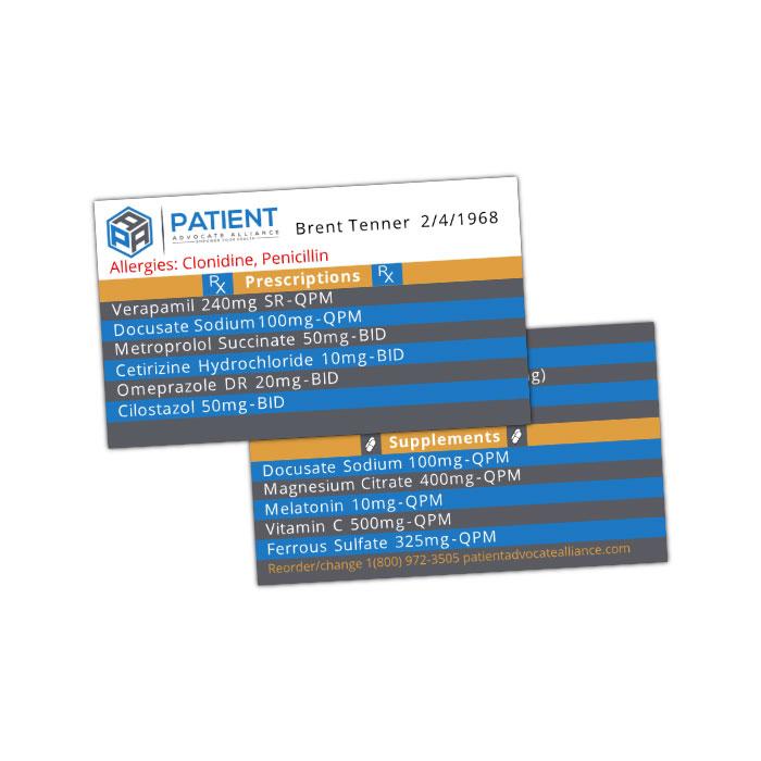 Medication Wallet Card